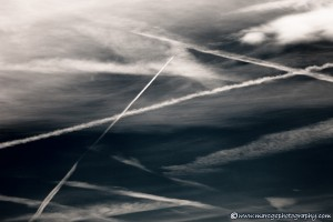 The Last Frontier - Abstract Picture of the sky and airplane trails