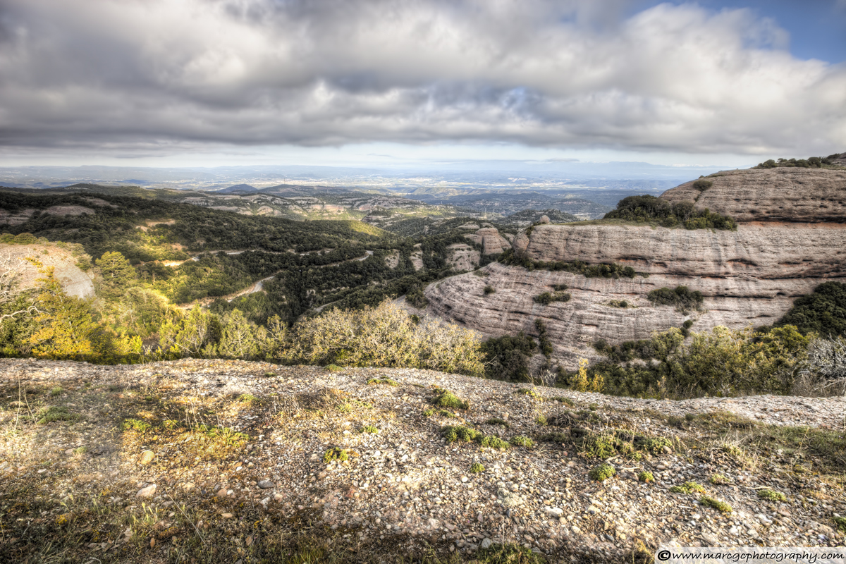 The views from the Montcau's hillsides