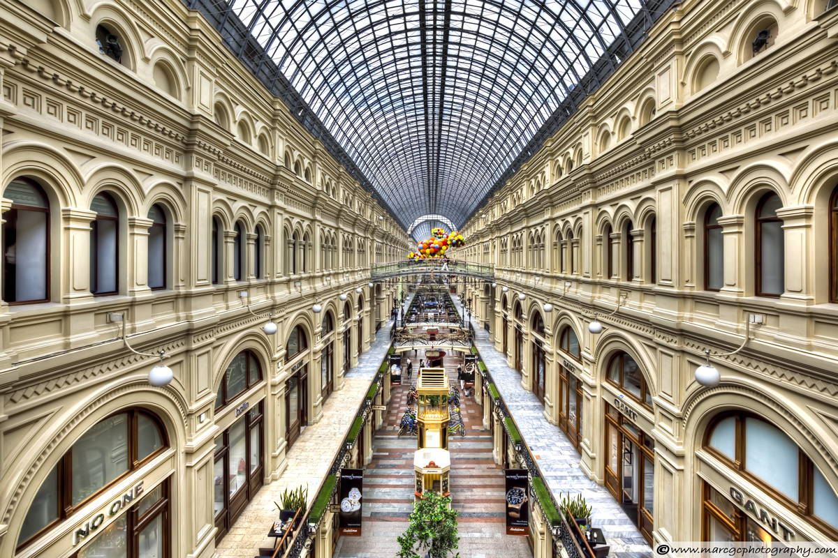 GUM Department Store In Moscow (Interior View)