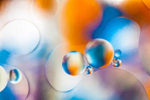 Oil bubbles with Glass Textures