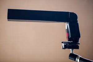 Snoot Mounted on Canon 580ex II Flashgun