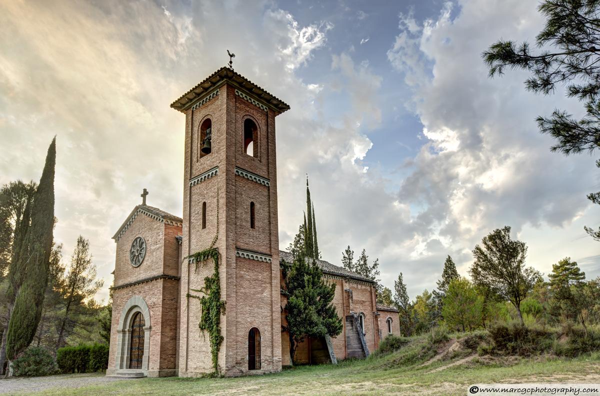 Sunset on Sant Pere de Viladecavalls Church