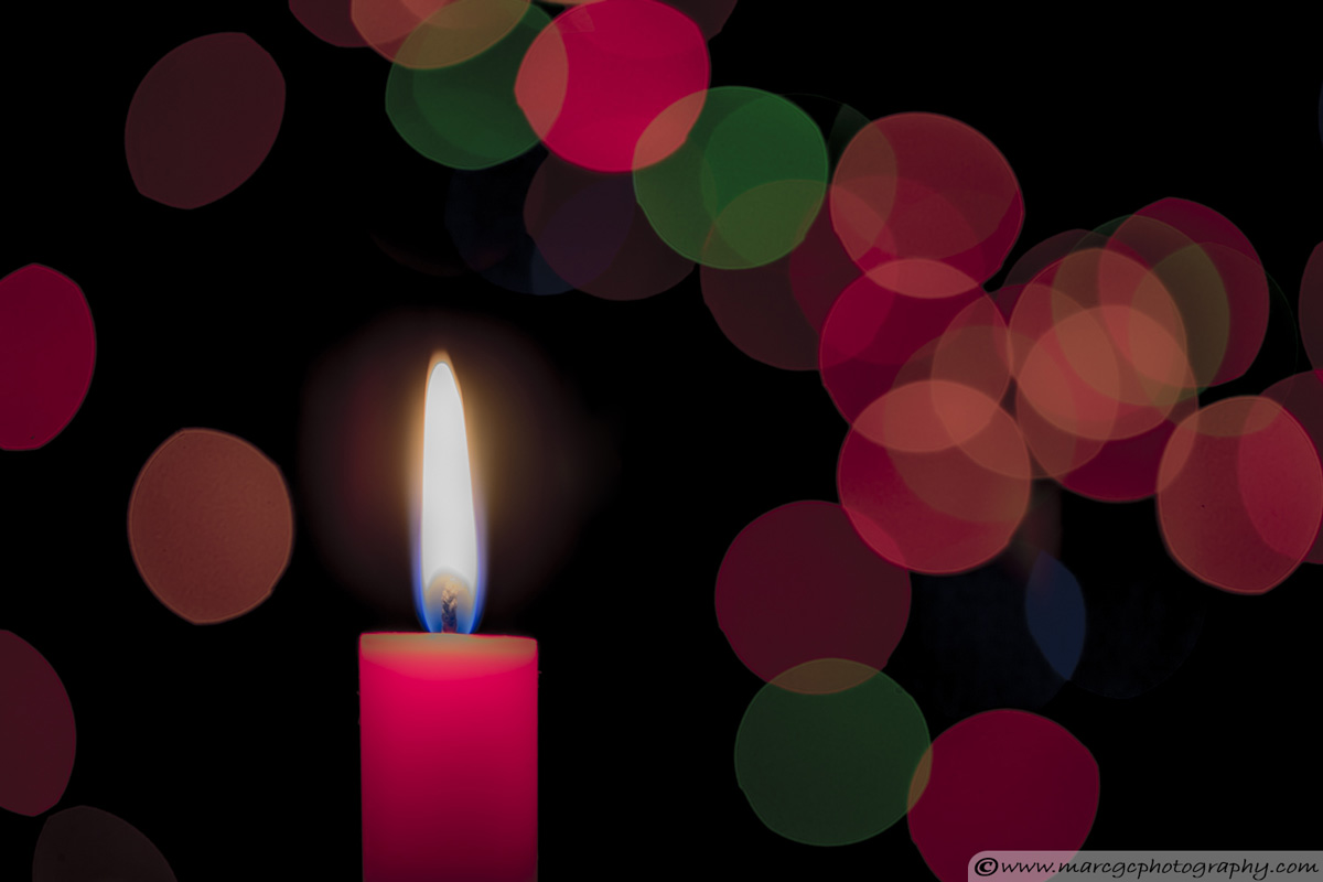 Red Candle- Bokeh Example With Specular Highlight