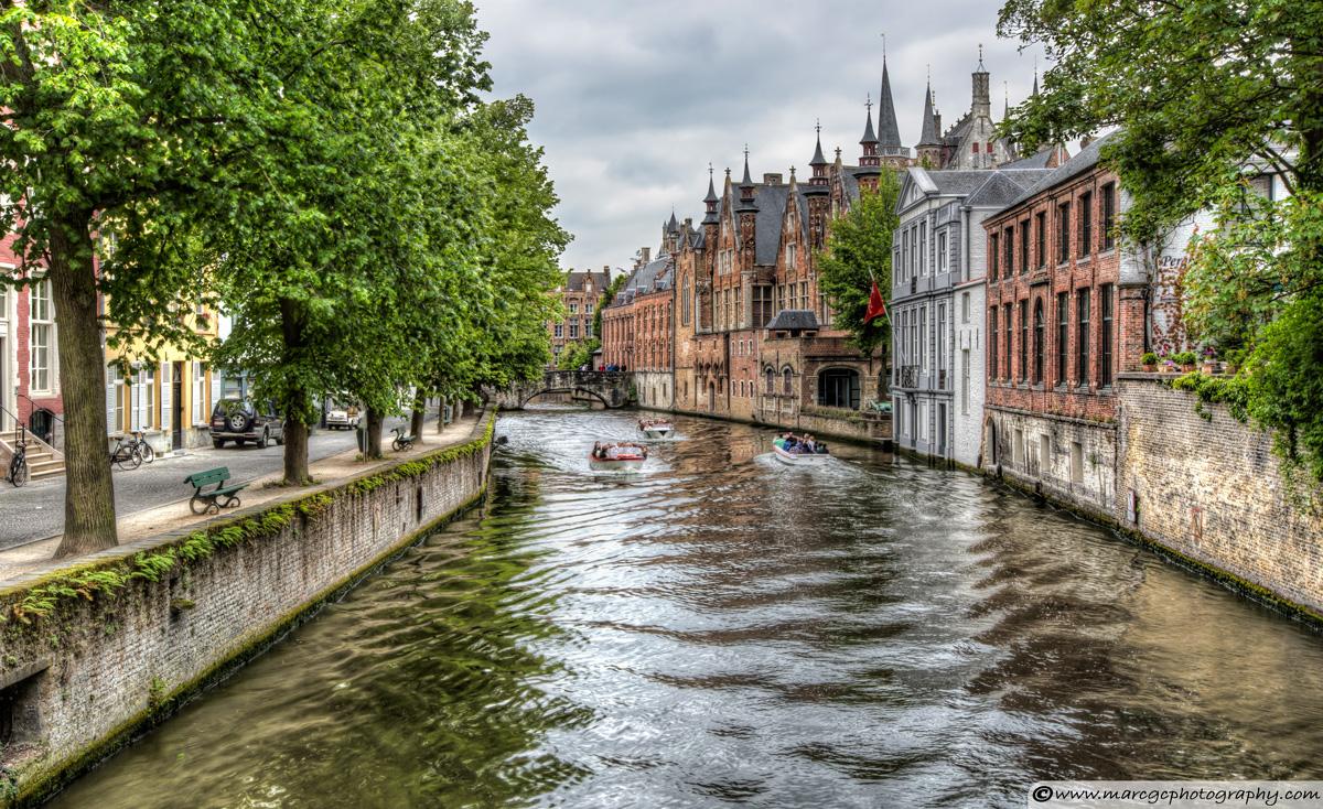 The Groenerei Canal in Bruges (Belgium)