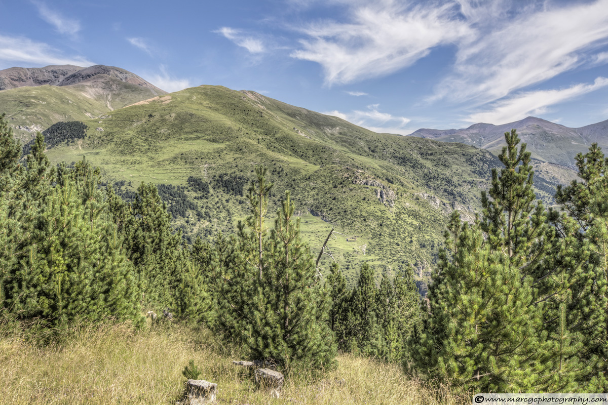 The Puigmal seen from the 'Collet de les Barraques' in Catalonia