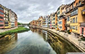 The Houses on the River Onyar (Girona, Catalonia)
