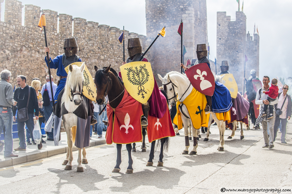 Horse Riders Knights - Montblanc Medieval Festival 2015