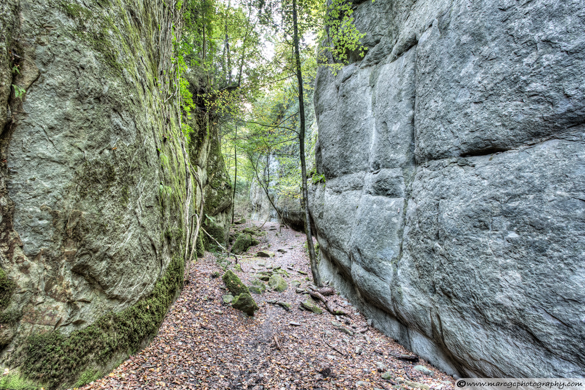 Walking Between Rock Walls (Santa Maria de Besora, Catalonia)
