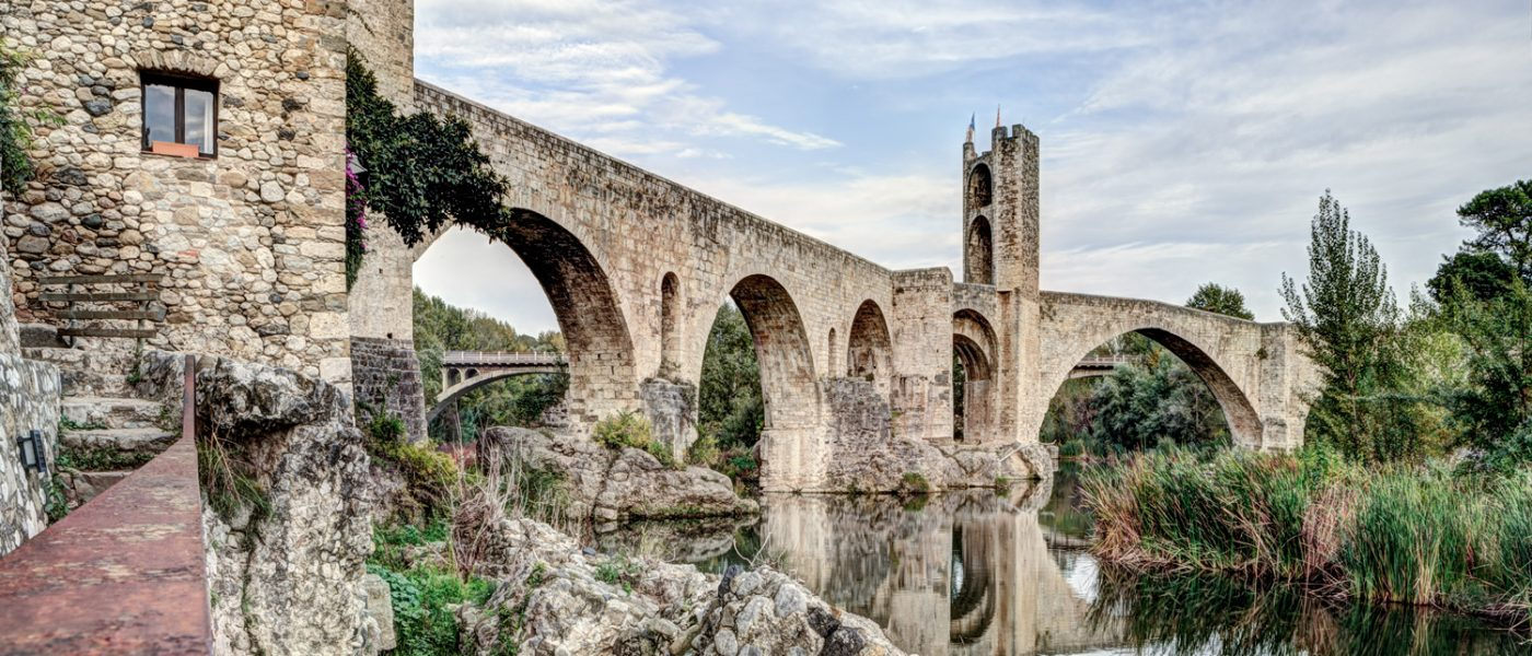 Besalú's Romanesque Bridge (Catalonia)
