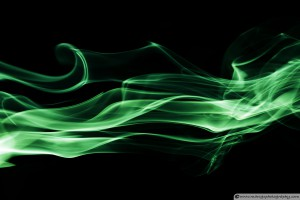 Typical Smoke Photograph with Black Background Typical Smoke Photograph with Black Background