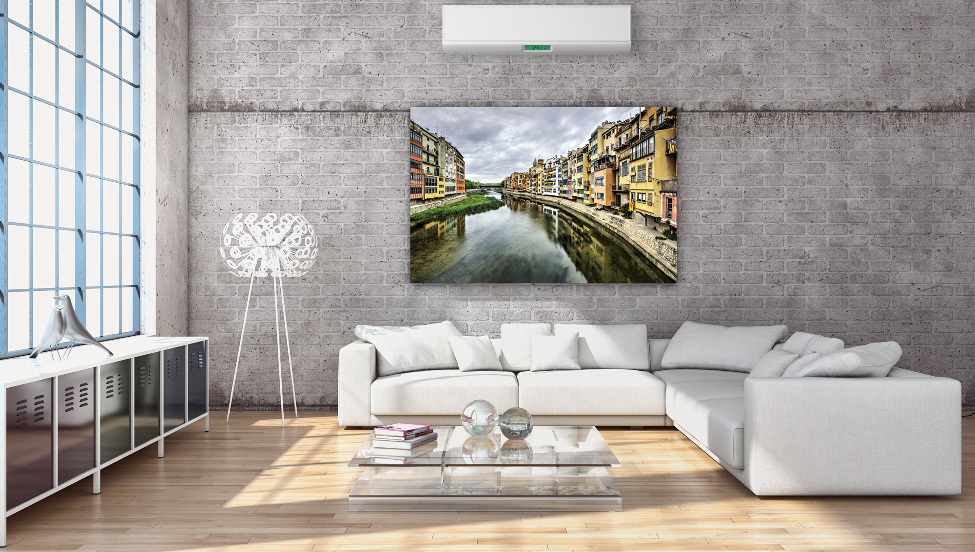 The Houses on the River Onyar (Girona, Catalonia) - Canvas