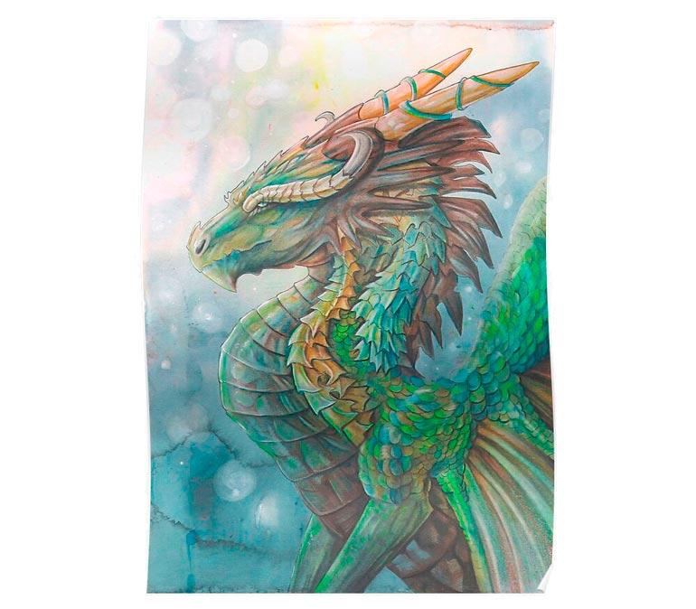 'River Dragon' Poster   by Dawn Paws