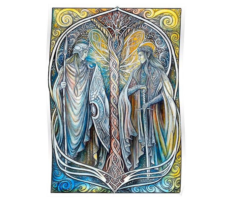 'Elven Lords' Poster  by Janka Latečková