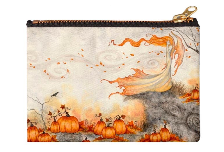 'Whispers in the Pumpkin Patch' Zipper Pouch  by Amy Brown